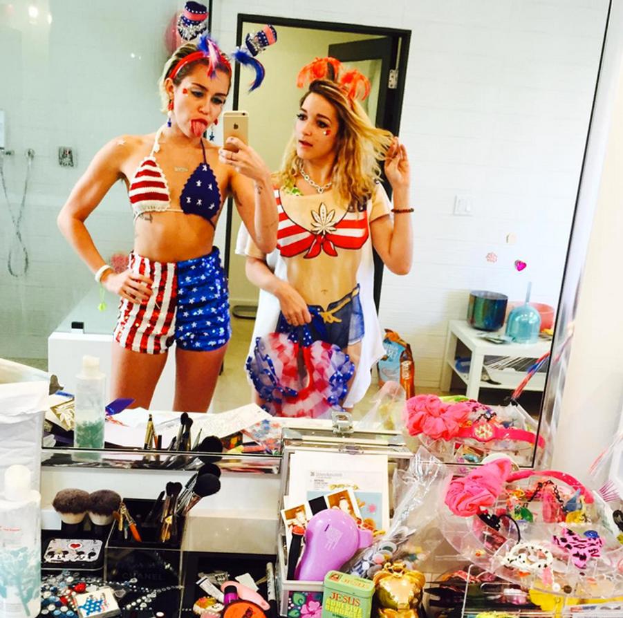 Photo postée par Miley Cyrus pour la fête du 4 juillet