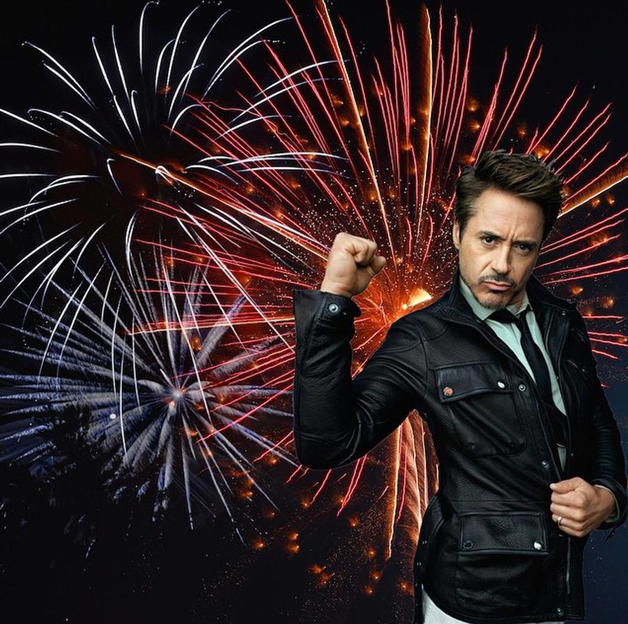 Photo postée par Robert Downey Jr. pour la fête du 4 juillet