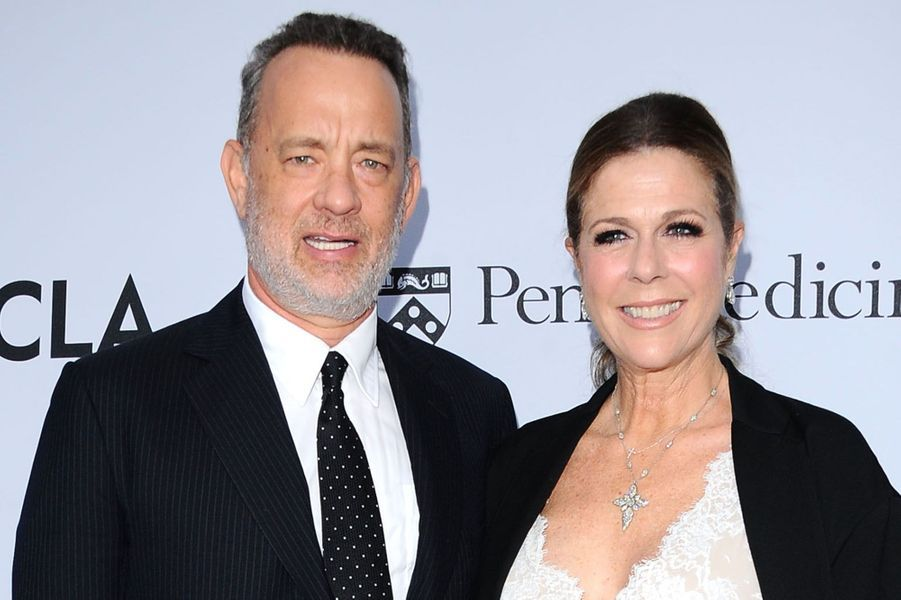 Tom Hanks et son épouse Rita Wilson à Los Angeles, le 13 avril 2016