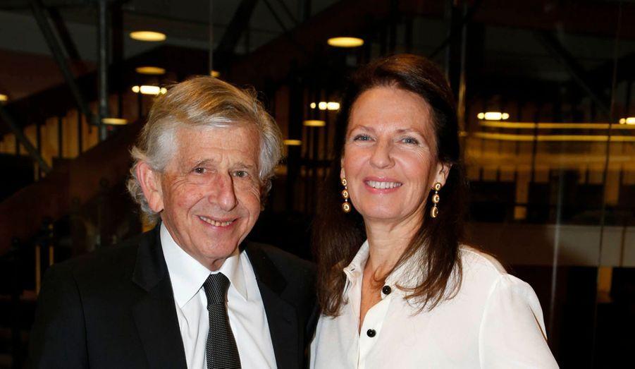 Pierre Milchior, directeur général du groupe Etam, et son épouse.