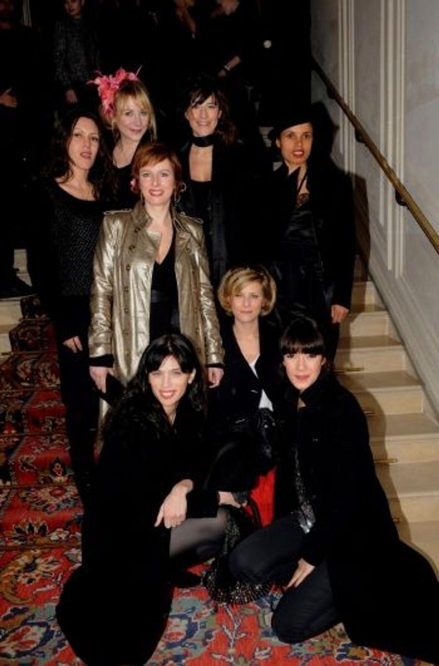 Chef de fileC'est avec son équipe du « Bal des actrices » que Maïwenn Le Besco (en bas à g.) a débarqué au Ritz.