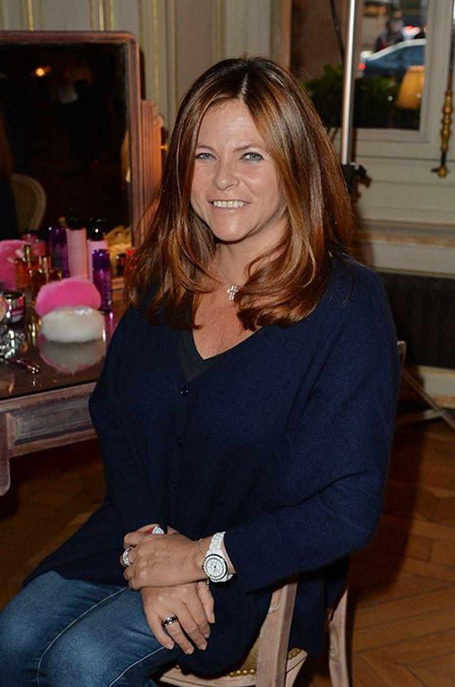 Charlotte Valandrey à l'hôtel Régina de Paris le lundi 13 octobre 2014