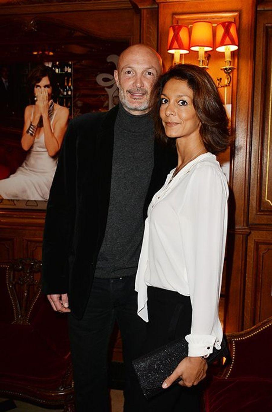 Franck Leboeuf et Chrislaure Nollet à l'hôtel Régina de Paris le lundi 13 octobre 2014
