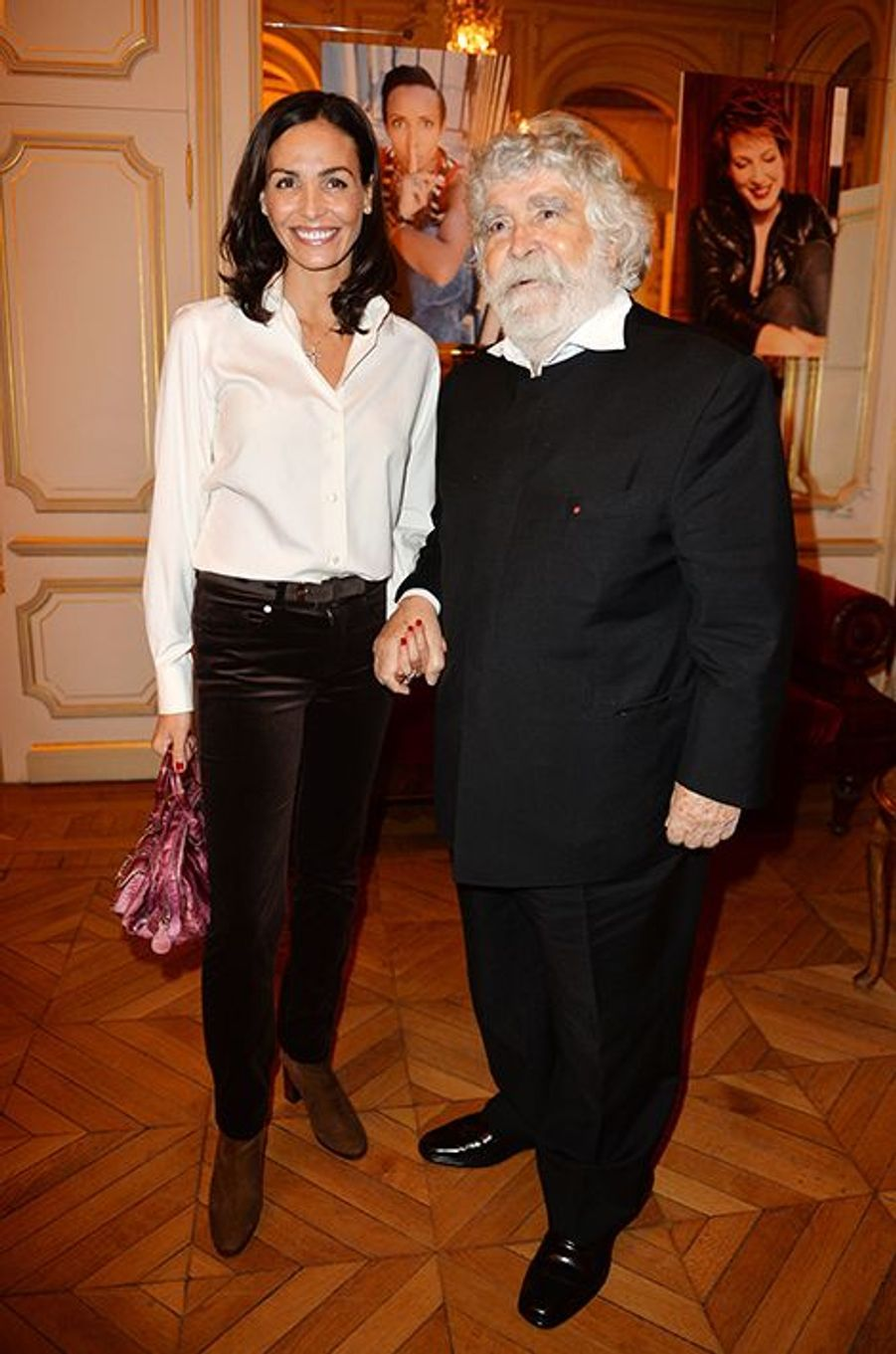 Inès Sastre et Patrick Alès à l'hôtel Régina de Paris le lundi 13 octobre 2014
