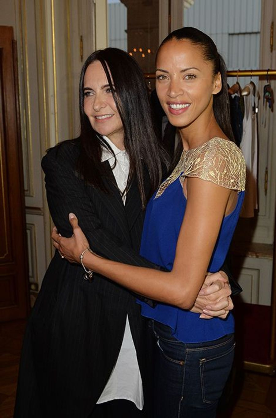 Nathalie Garçon et Noémie Lenoir à l'hôtel Régina de Paris le lundi 13 octobre 2014
