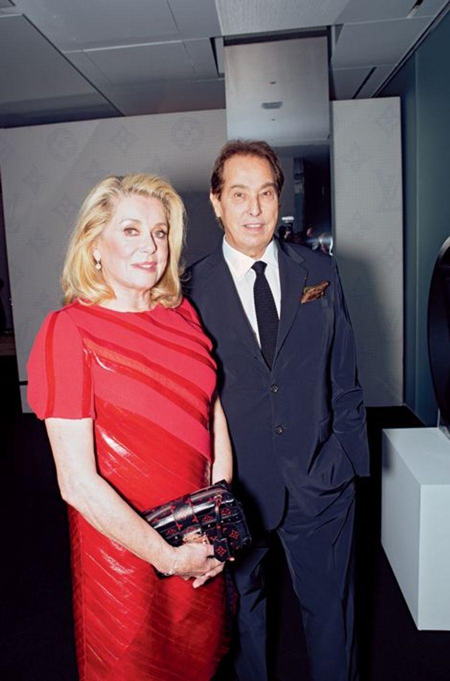 Catherine Deneuve et un ami, Gilles Dufour.