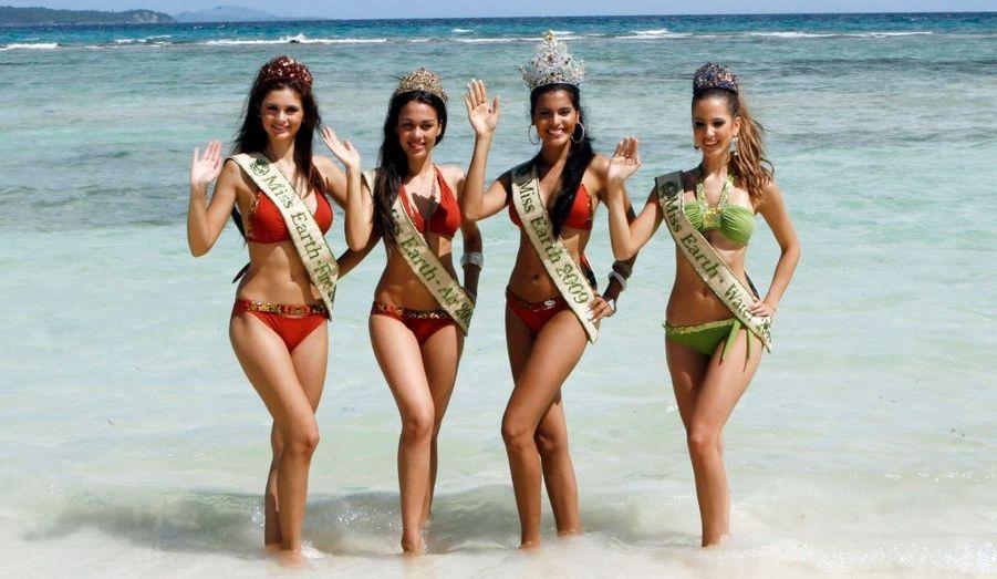 De son doux nom Larissa Ramos, une Brésilienne a remporté le titre de Miss Earth 2009, dimanche, lors d'un concours de Miss qui se déroulait aux Philippines.