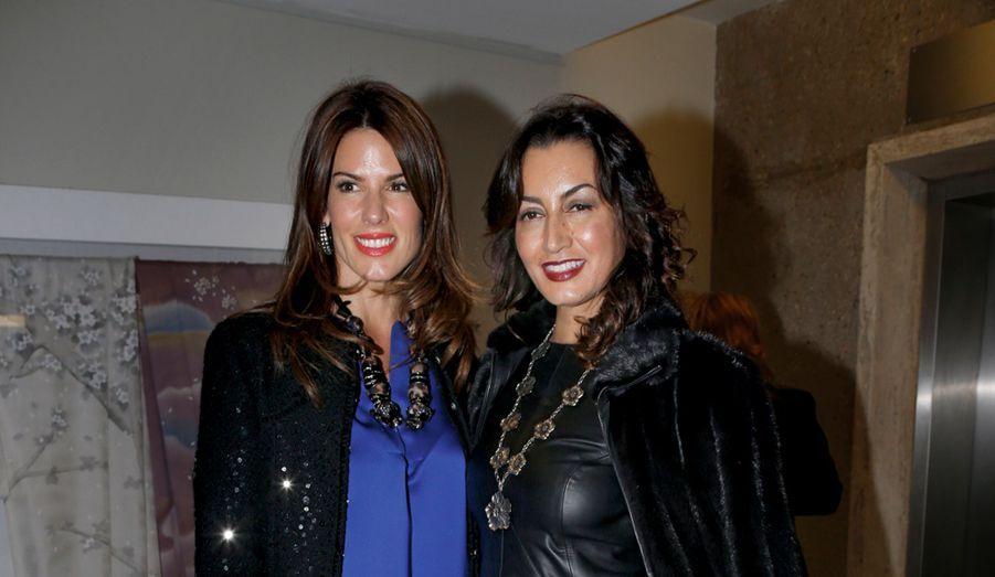 Les socialites Christina Juffali et Maria Buccellati.