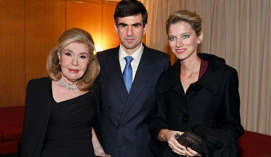 Marianna Vardinoyannis, son fils Nikos et sa belle-fille Alexia.