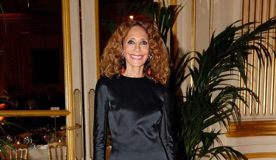 Marisa Berenson, artiste de l'Unesco pour la paix et animatrice de la soirée.