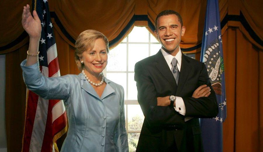Hilary Clinton et Barack Obama