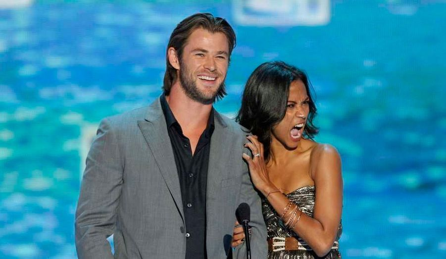 Chris Hemsworth et Zoe Saldana