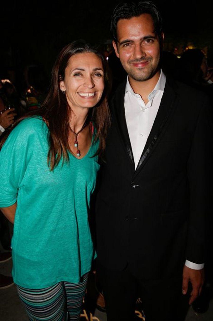Adeline Blondieau et Yoann Fréget au 10e anniversaire de l'Hôtel de Sers à Paris, le 10 septembre 2014.