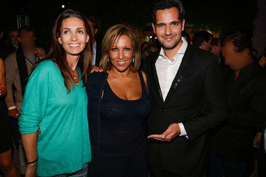 Adeline Blondieau, Jennifer Boccara et Yoann Fréget au 10e anniversaire de l'Hôtel de Sers à Paris, le 10 septembre 2014.au 10e anniversaire de...