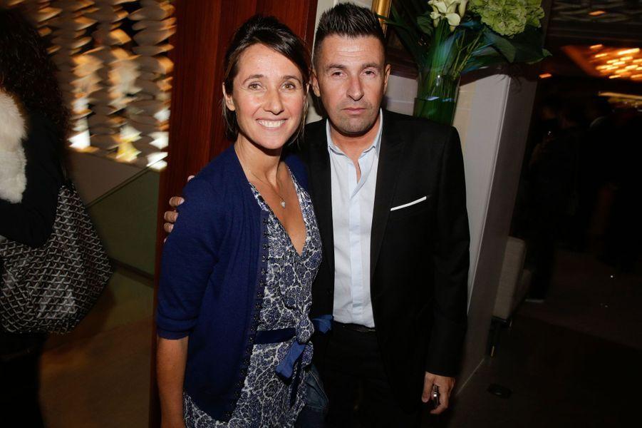 Alexia Laroche-Joubert et Laurent Guyot au 10e anniversaire de l'Hôtel de Sers à Paris, le 10 septembre 2014.
