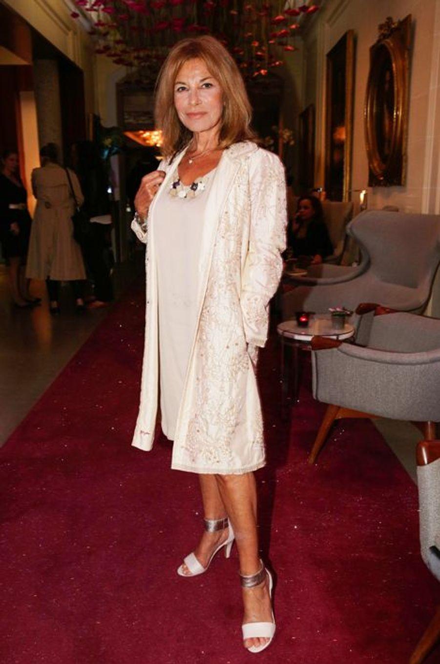 Nicole Calfan au 10e anniversaire de l'Hôtel de Sers à Paris, le 10 septembre 2014.