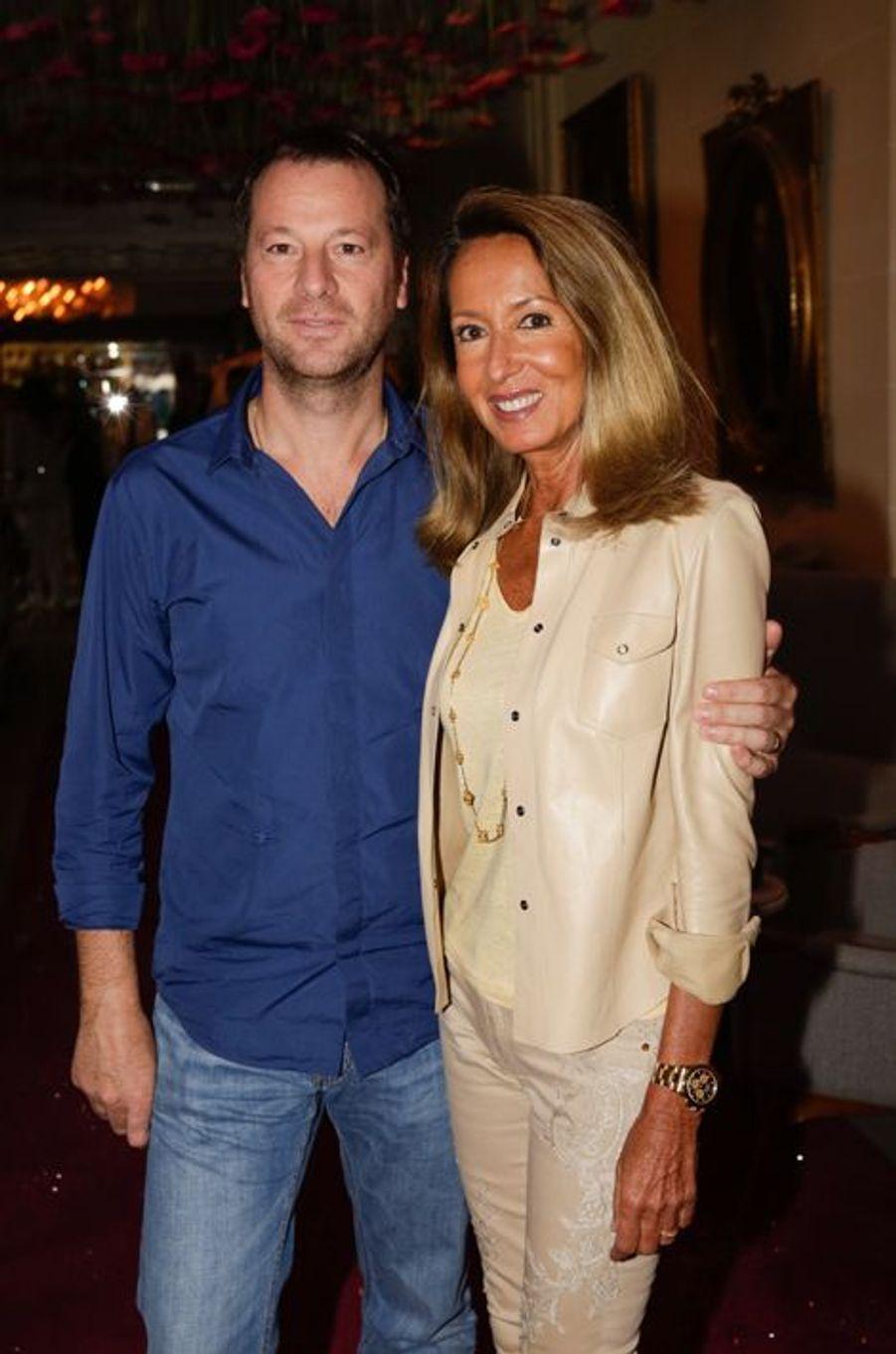 Roberto Ciurleo et Nicole Coullier au 10e anniversaire de l'Hôtel de Sers à Paris, le 10 septembre 2014.