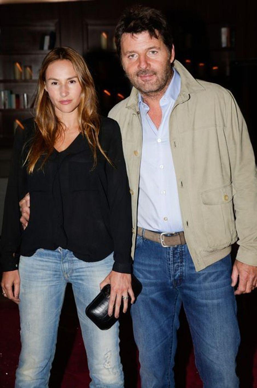 Vanessa Demouy et Philippe Lellouche au 10e anniversaire de l'Hôtel de Sers à Paris, le 10 septembre 2014.