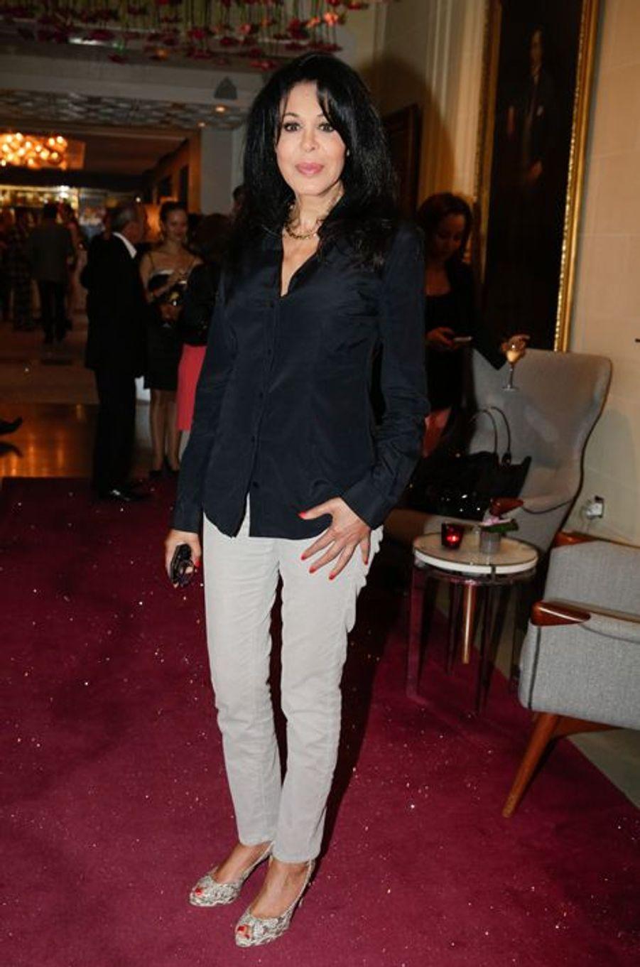 Yamina Benguigui au 10e anniversaire de l'Hôtel de Sers à Paris, le 10 septembre 2014.