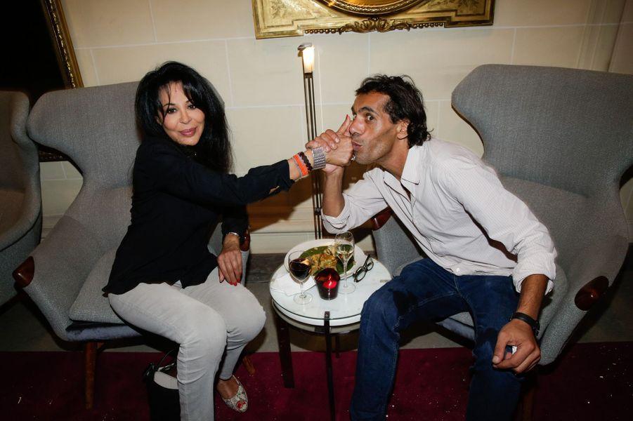 Yamina Benguigui et François Hassan Guerrar au 10e anniversaire de l'Hôtel de Sers à Paris, le 10 septembre 2014.