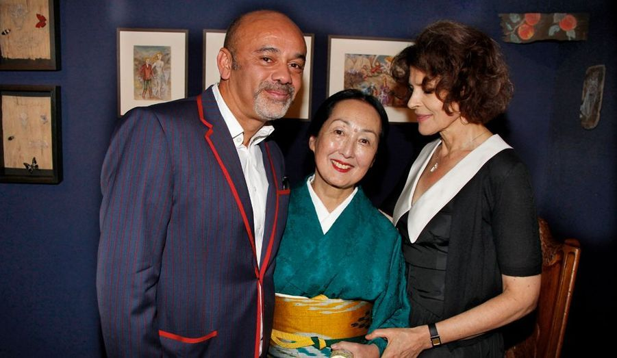 Christian Louboutin, Setsuko Klossowska de Rola et Fanny Ardant.