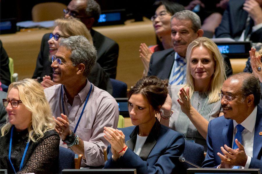 Victoria Beckham aux Nations Unies à New York le 25 septembre 2014.
