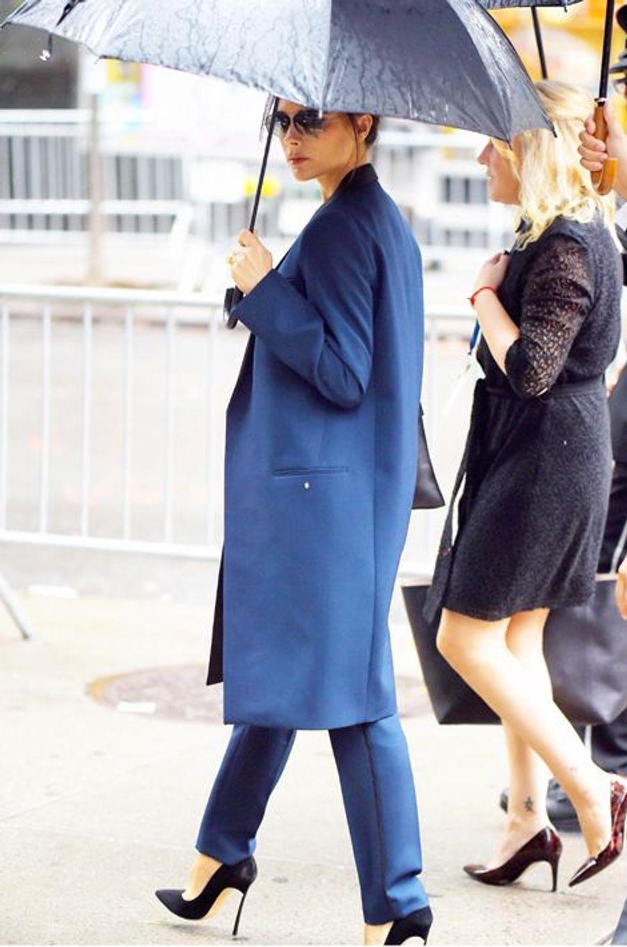 Victoria Beckham se rend aux Nations Unies à New York le 25 septembre 2014.