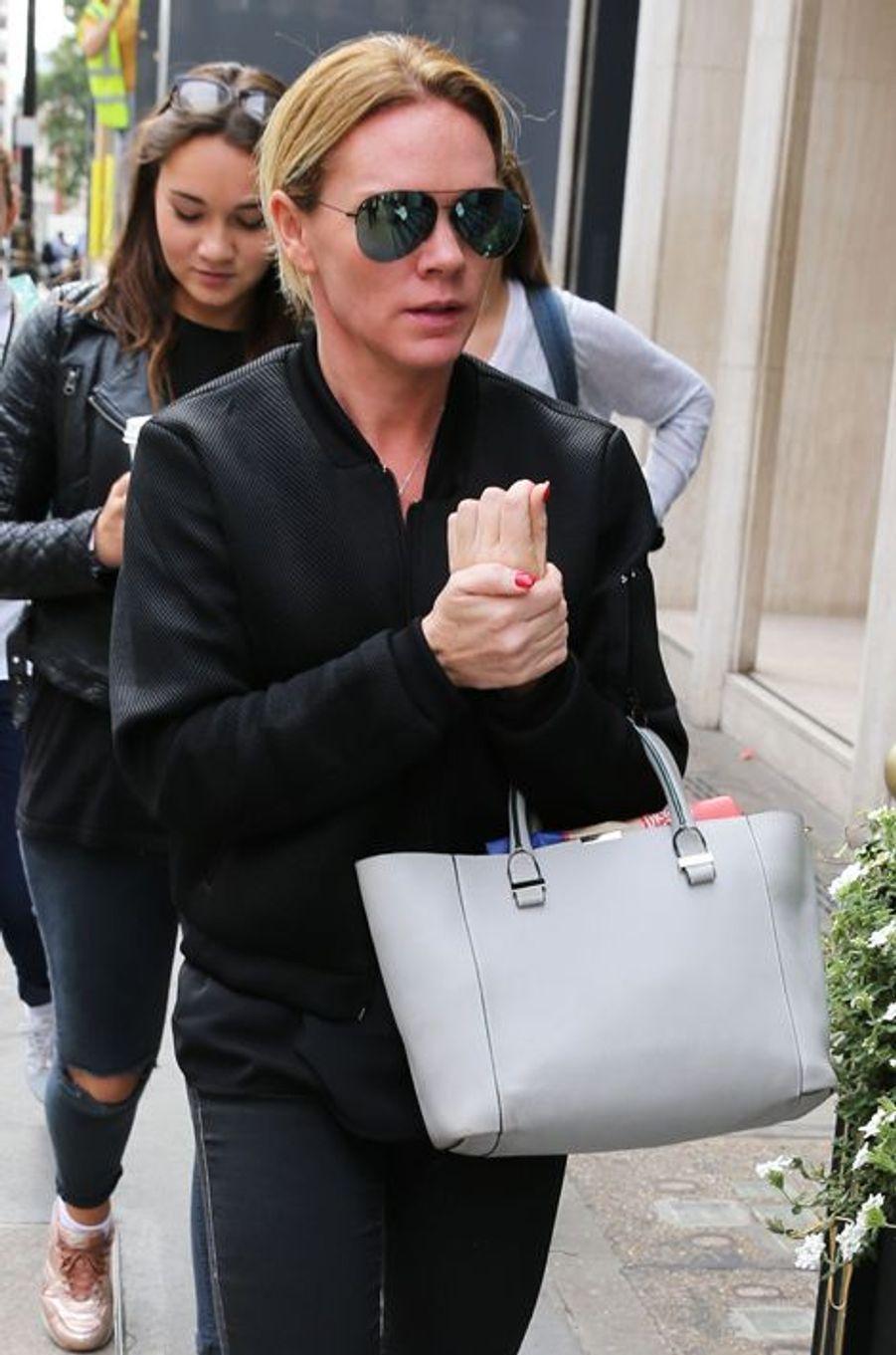 Louise Adams lors de l'ouverture de la boutique londonienne de Victoria Beckham ce 25 septembre 2014.