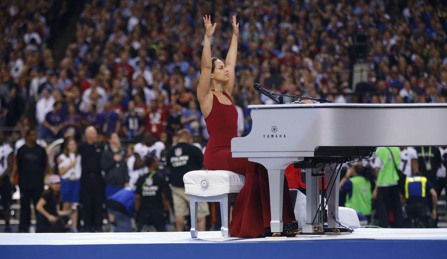Alicia Keys, toute en émotion