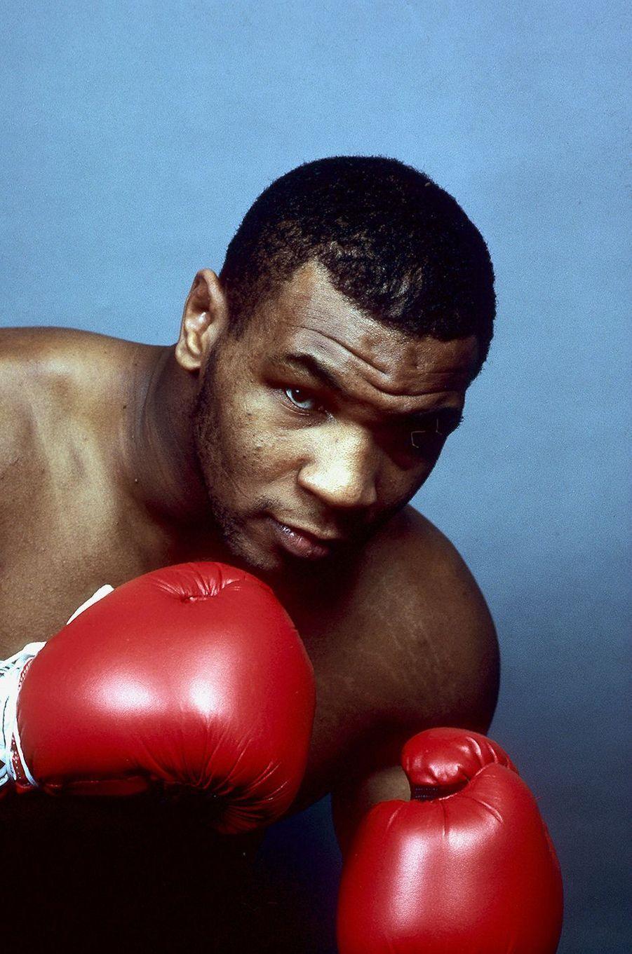 Mike Tyson pose à New York
