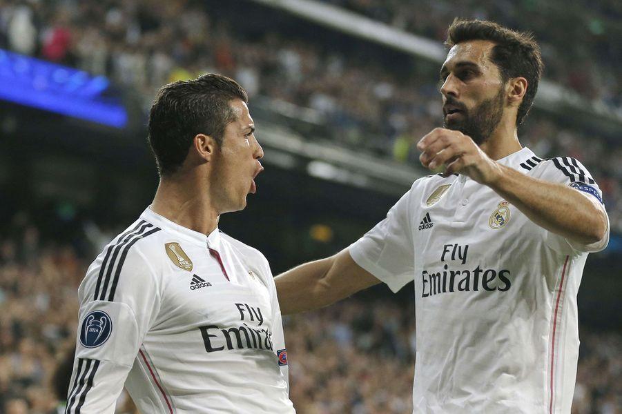 Cristiano Ronaldo et Alvaro Arbeloa.