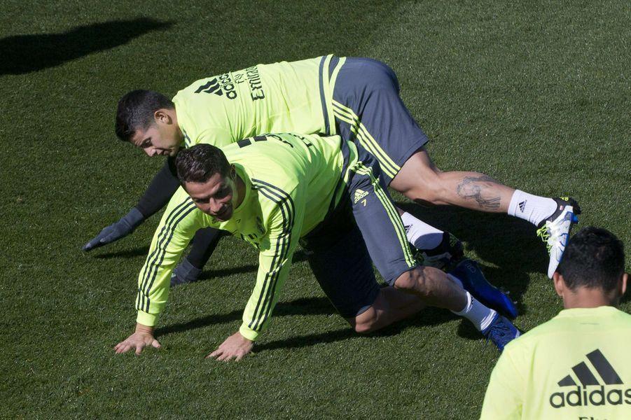 Cristiano Ronaldo et James Rodriguez.