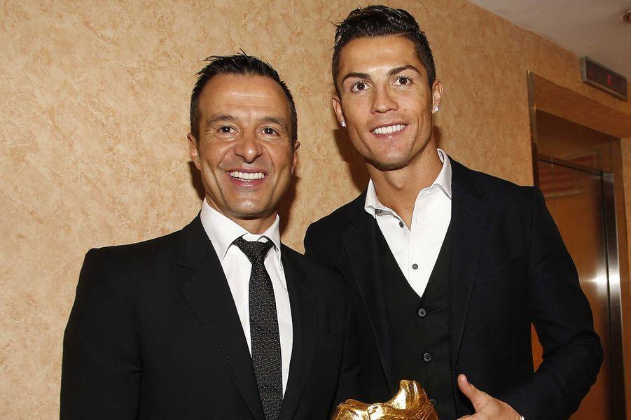 Cristiano Ronaldo et son agent Jorge Mendes.