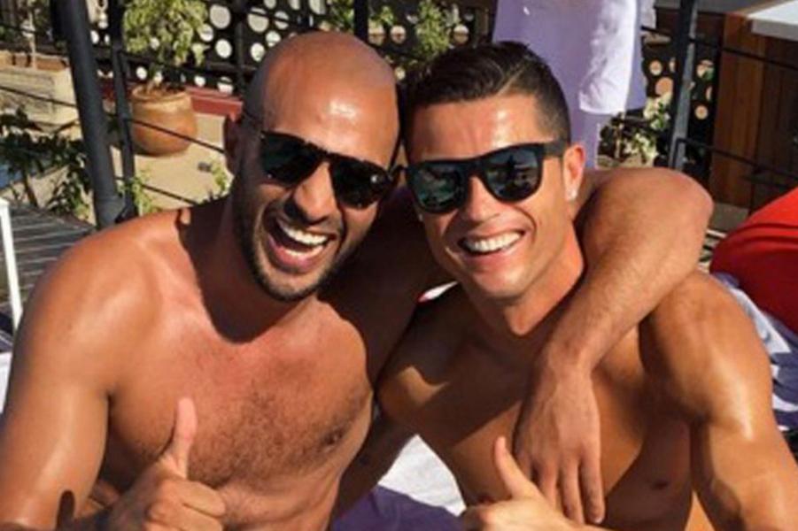 Cristiano Ronaldo et son ami marocain Badr Hari.