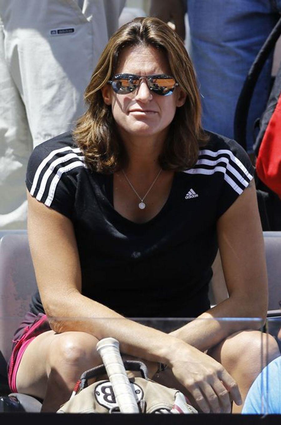 Amélie Mauresmo à Rome le 13 mai 2015