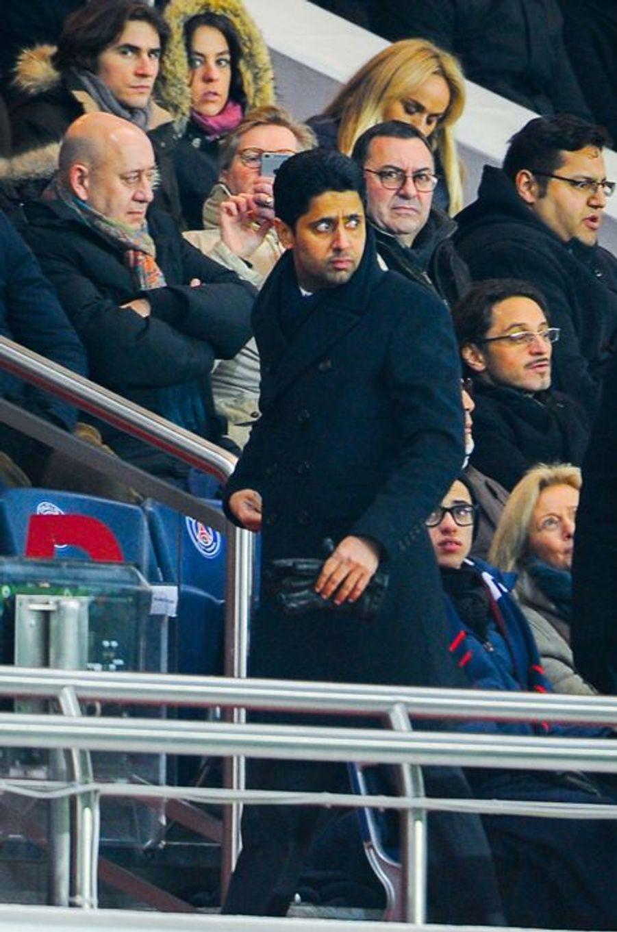 Fin de match gagnant pour le président du PSG