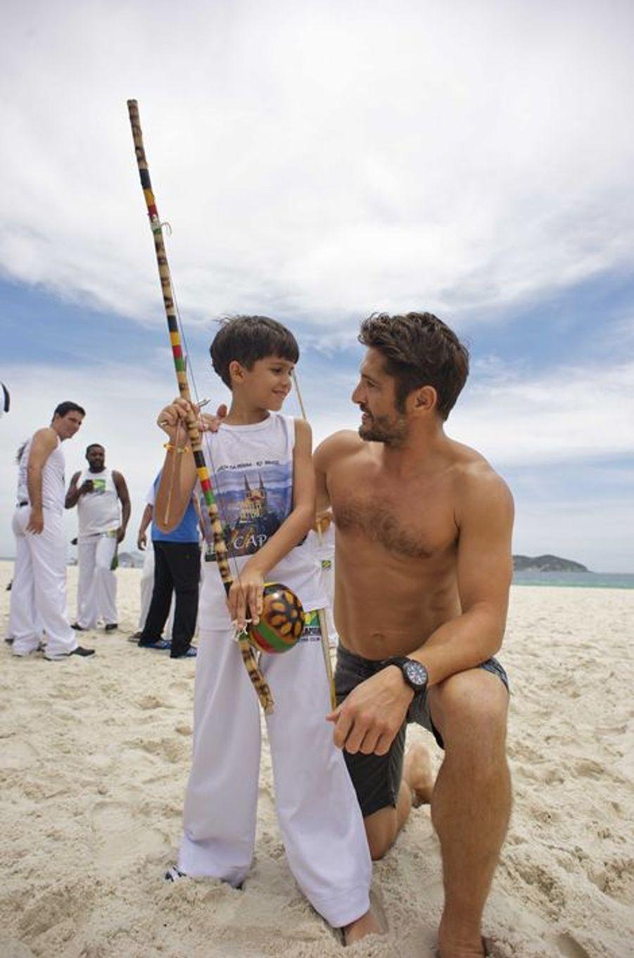 Découverte de la Capoeira à sa source pour Bixente Lizarazu