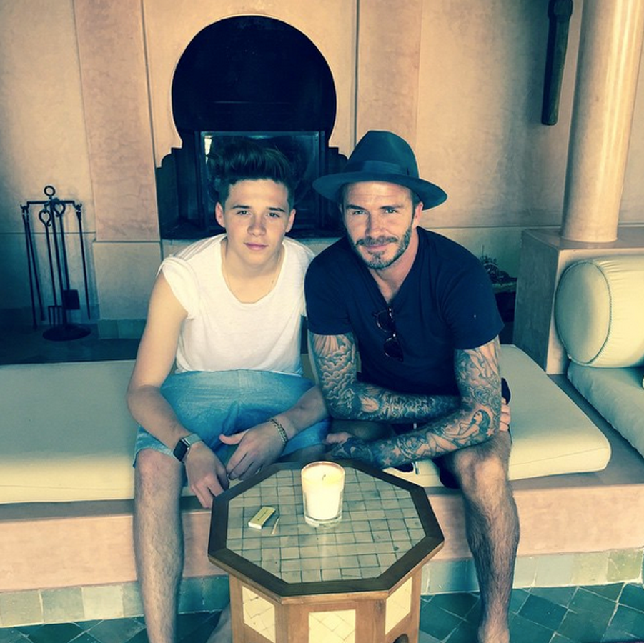 Brooklyn et David Beckham