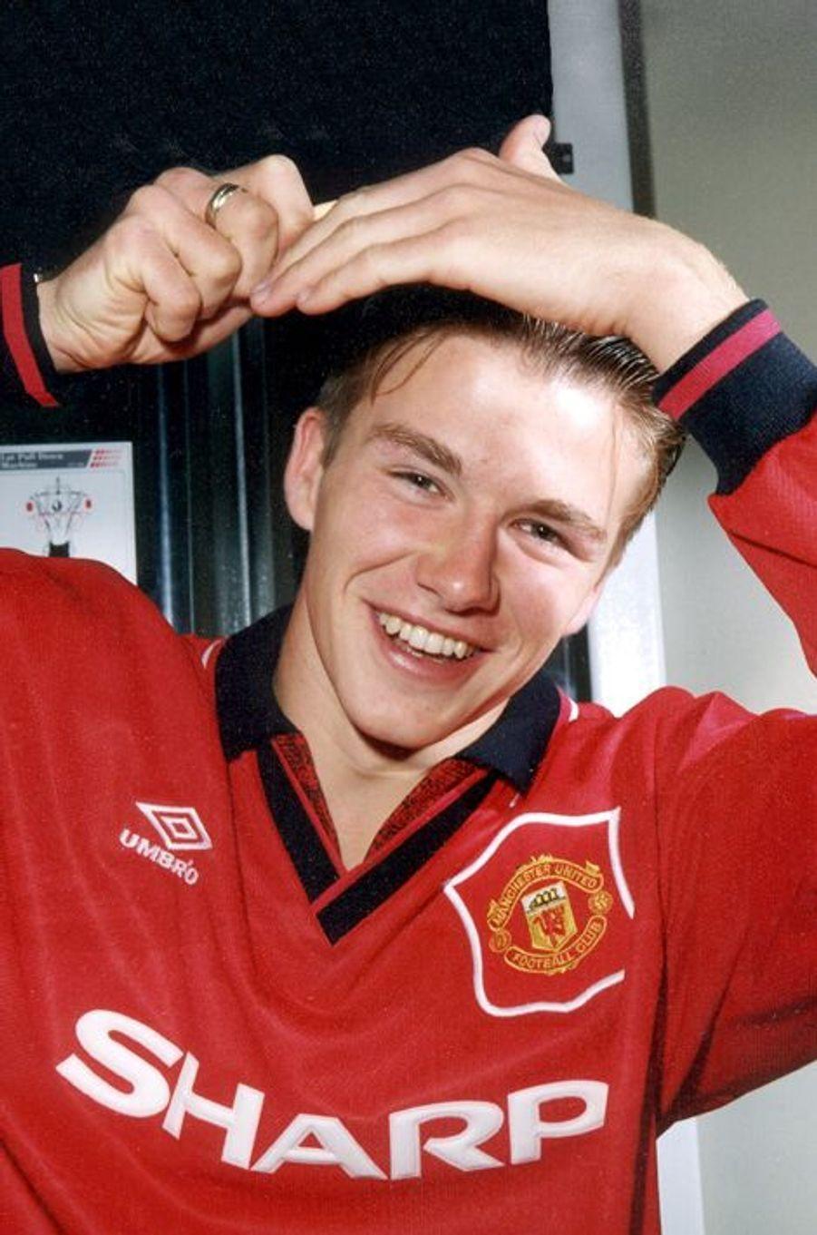 En 1991 pour l'équipe junior de Manchester United