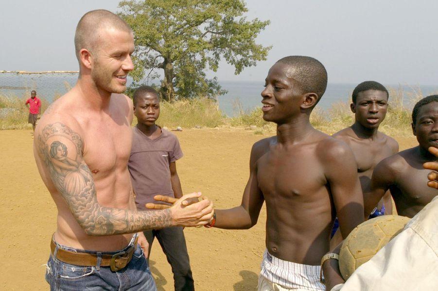 En 2008 en Sierra Leone, en tant qu'ambassadeur UNICEF