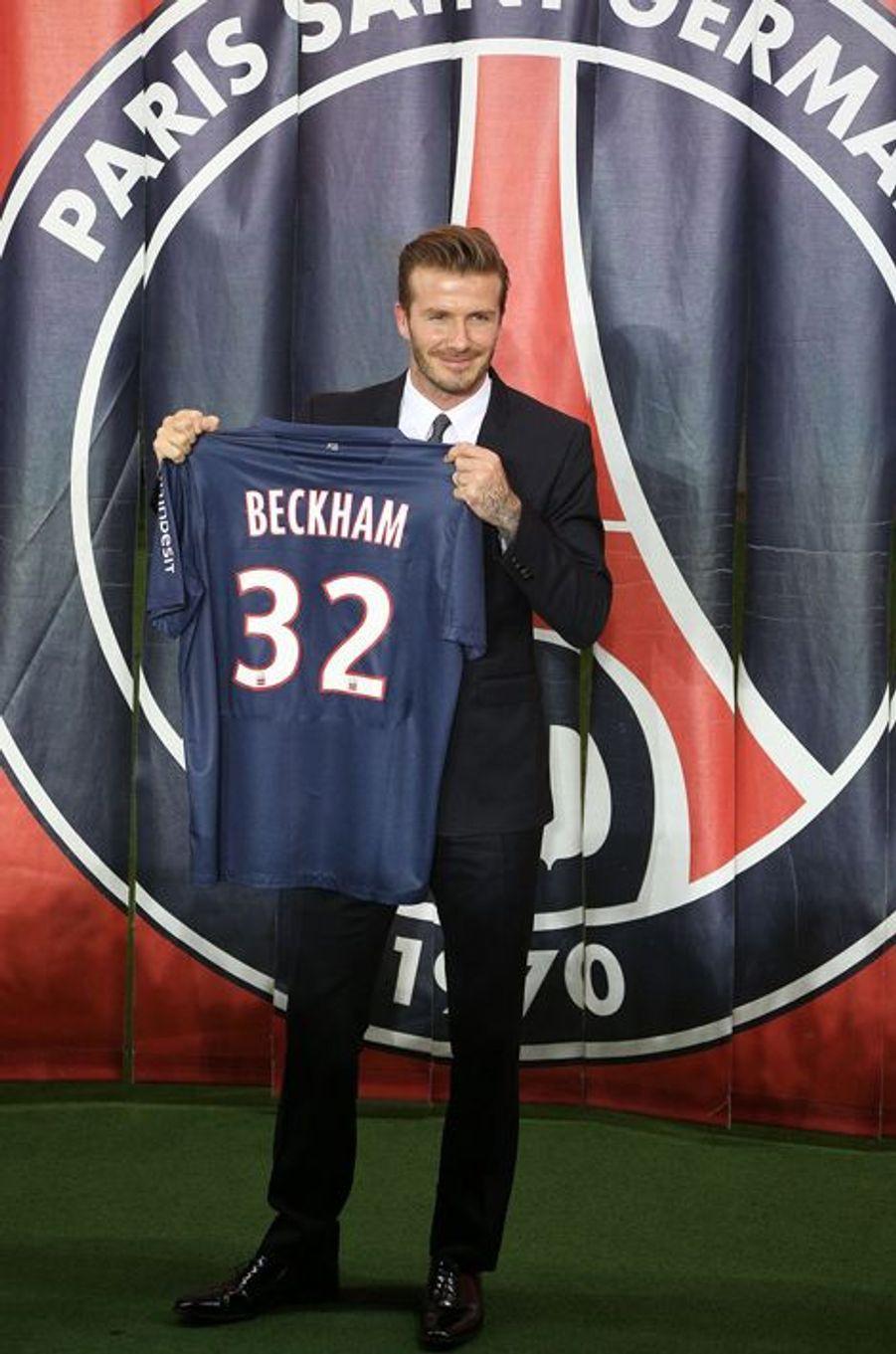En janvier 2013 lors de son arrivée au Paris Saint-Germain