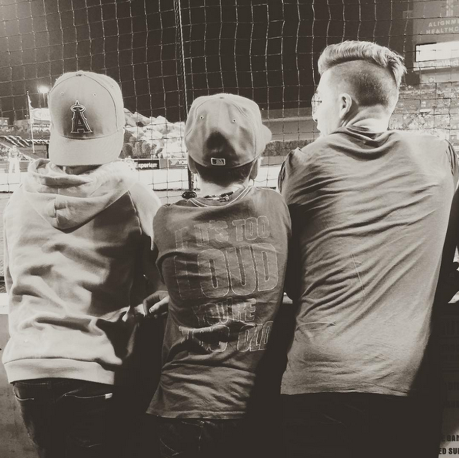 Romeo, Cruz et Brooklyn Beckham