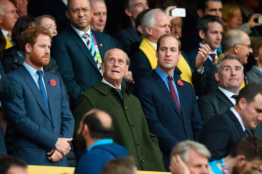 Les princes Harry, Philip et William