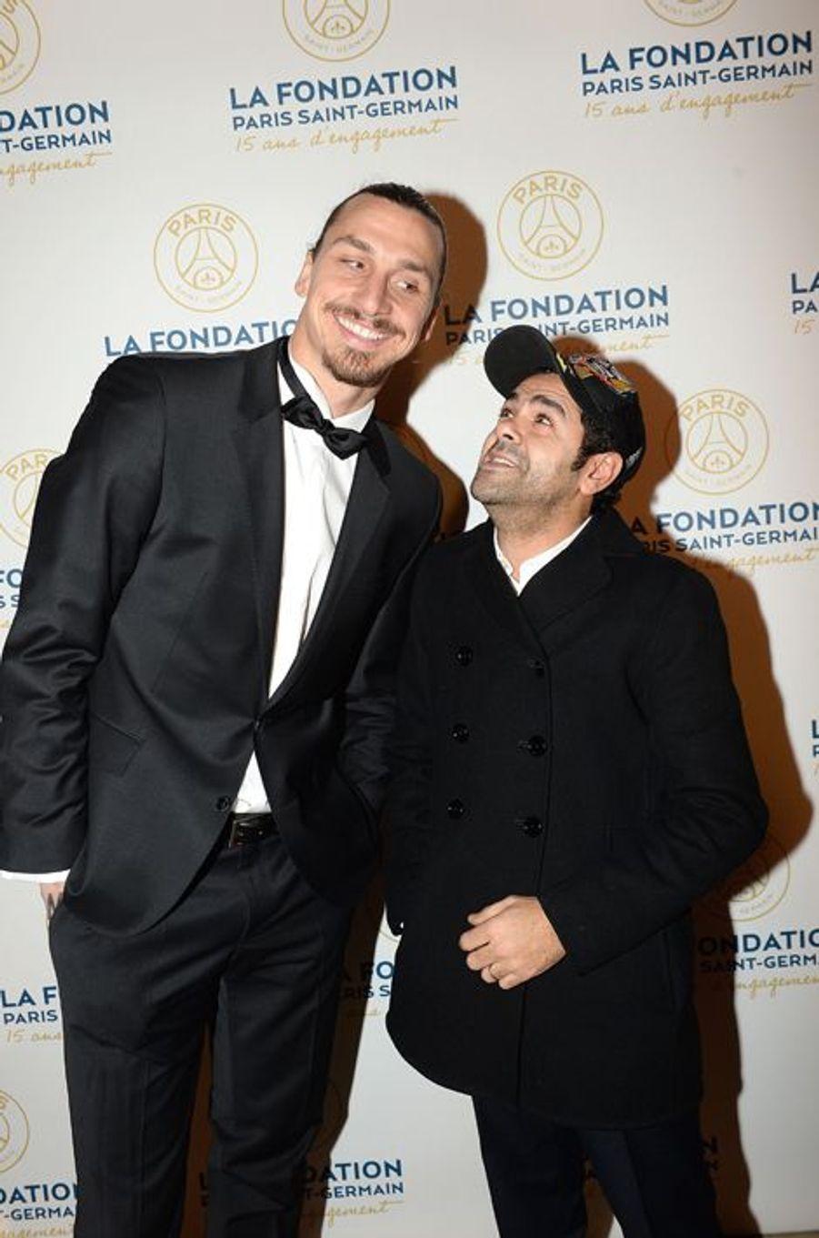 Zlatan Ibrahimović et Jamel Debbouze au gala de la Fondation PGS