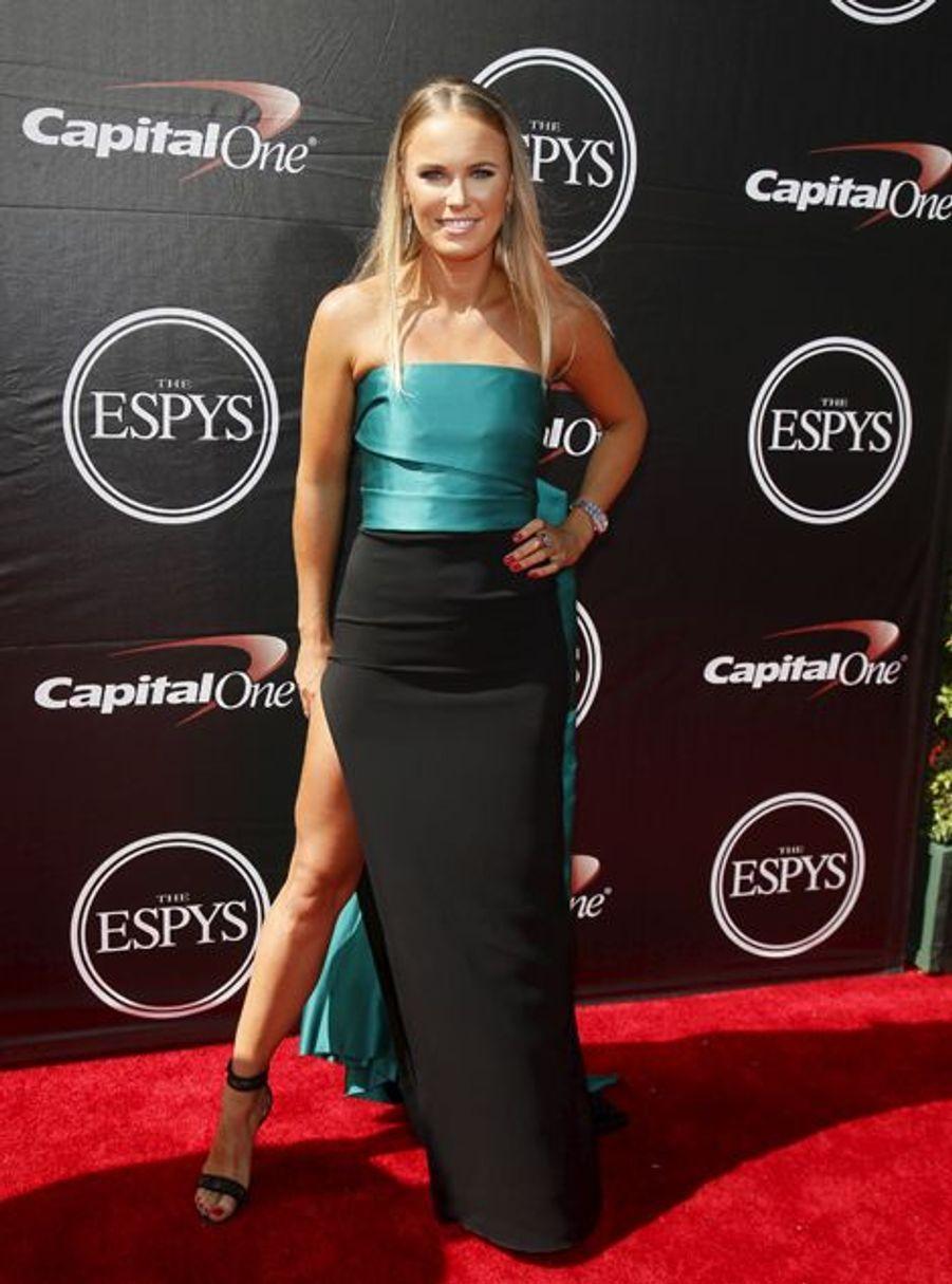 Caroline Wozniacki à Los Angeles le 15 juillet 2015