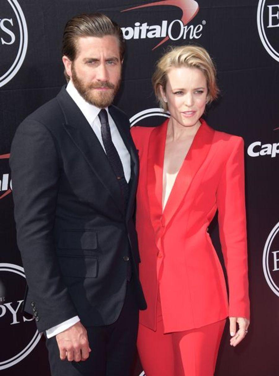 Jake Gyllenhaal et Rachel McAdams à Los Angeles le 15 juillet 2015