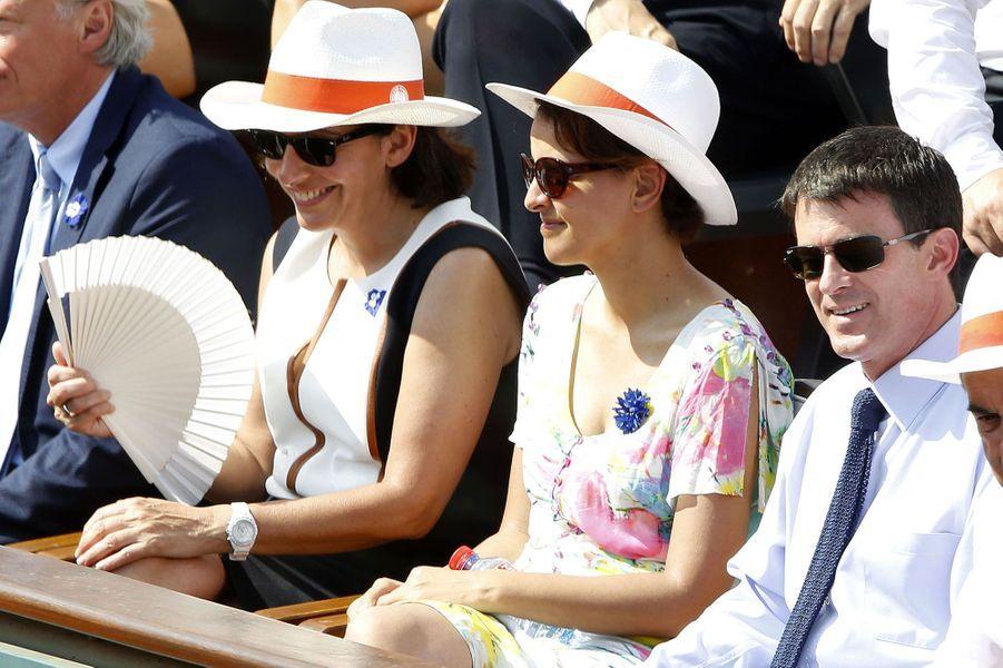 Anne Hidalgo, Najat Vallaud-Belkacem et Manuel Valls