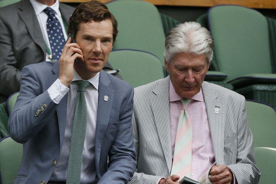 Benedict Cumberbatch et son père Timothy à Londres le 12 juillet 2015