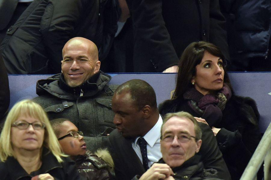 Zidane et sa femme Véronique