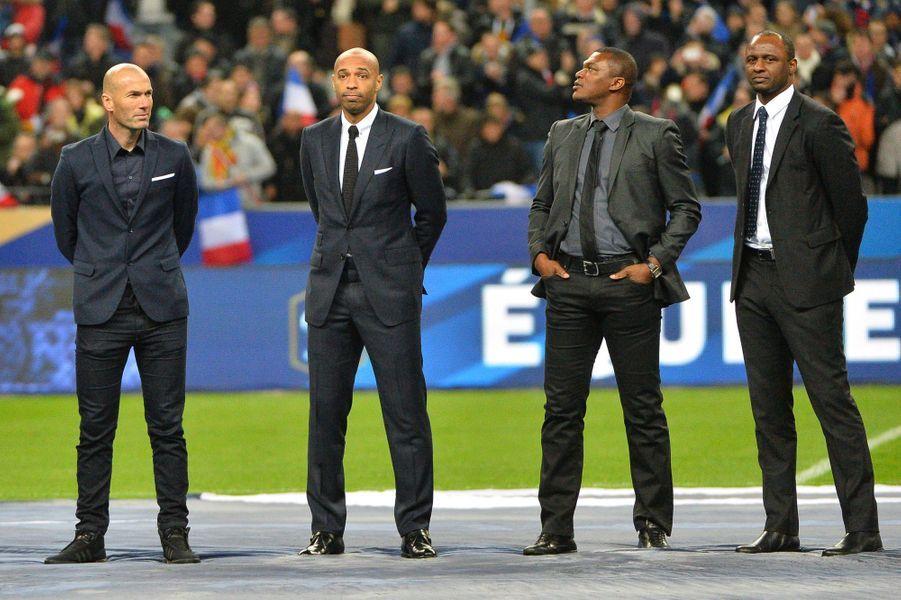 Zinedine Zidane, Thierry Henry, Patrick Vieira et Marcel Dessailly